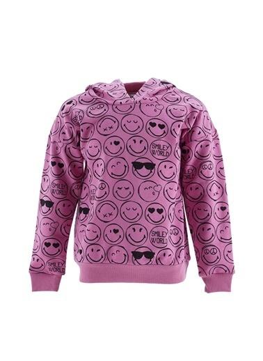 DeFacto Kız Çocuk Smiley Lisanslı  Sweatshirt Pembe